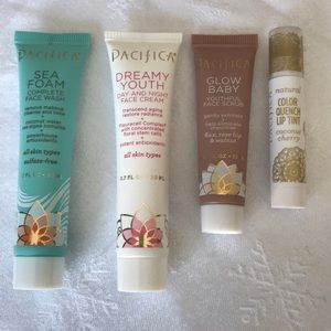 Pacifica Makeup - Pacifica Face Wash, Scrub, Cream, Color Quench Lip
